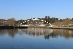 Tube bridge in Pontevedra royalty free stock photos