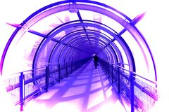 Tubular Pedestrian Walkway Stock Photos