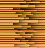 Tubular shape in multiple orange yellow Royalty Free Stock Image