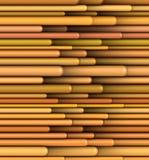 Tubular shape in multiple orange yellow Royalty Free Stock Image