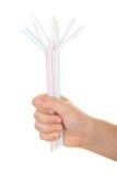 tubules серии руки питья Стоковая Фотография RF
