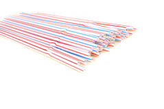 Tubules de plastique de couleur Image libre de droits