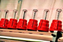 Tubulure, collecteur pour la chauffage d'un plancher Photos libres de droits