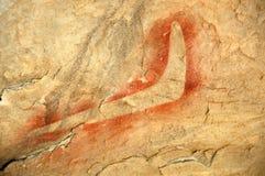 tubylcza bumerangu obrazu skała Obraz Royalty Free