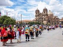 Tubylczy świętowania Cuzco, Peru Obraz Royalty Free