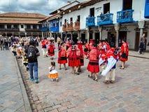 Tubylczy świętowania Cuzco, Peru Fotografia Royalty Free
