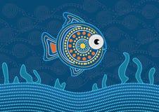 Tubylczy kropki ryba obraz - Wektorowa ilustracja ilustracja wektor
