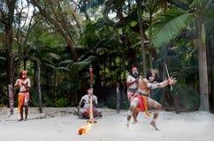 Tubylczy kultury przedstawienie w Queensland Australia Zdjęcia Stock