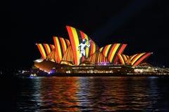 Tubylczy myśliwy na Sydney operze Żywy Sydney Obrazy Stock