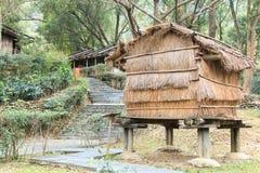 Tubylczy tajwańczyka dom przy Tajwańskimi rdzennymi narodami Kulturalnego parka w Pintung okręgu administracyjnym, Tajwan zdjęcie stock