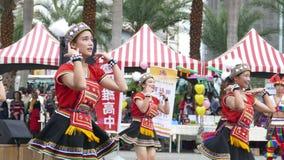 Tubylczy tanów występy w Hualien kultury parku, Hualien, Fotografia Stock