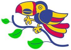 Tucán amazónico ilustración del vector