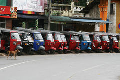 Tuc tuc's parking Royalty Free Stock Images