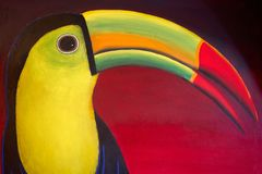 Tucan bird draw from Mayan Riviera. In Mexico Royalty Free Stock Photos