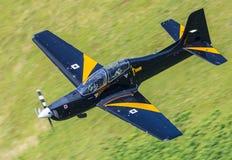 Tucano utbildningsflygplan Arkivbild