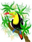 Tucano variopinto allegro illustrazione di stock