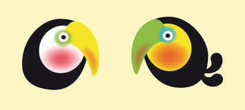 Tucans Duo. Illustration of a colorful tucan duo Stock Illustration