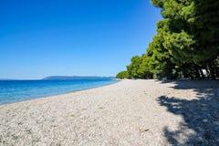 Tucepi海滩在克罗地亚 免版税库存照片