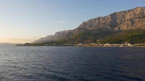 Tucepi Adriatic Sea stock footage