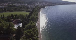 Tucepi aerial view stock footage