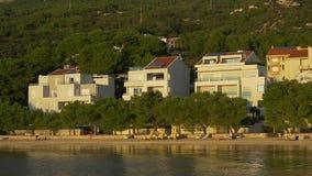 Tucepi coastal view stock video footage