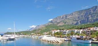 Tucepi, Makarska Riviera, Dalmatië, Kroatië Stock Foto's