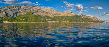Tucepi panoramic view landscape Royalty Free Stock Photos