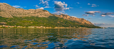 Tucepi panoramic view landscape stock images