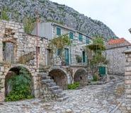 Tucepi village narrow street Stock Photo