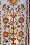 Tuch mit dekorativem Muster stockbild
