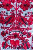 Tuch mit ukrainischem dekorativem Muster stockfotos