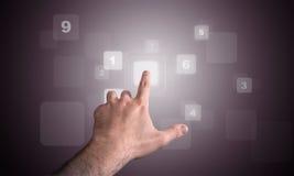 Tuch numérique de clavier Images stock