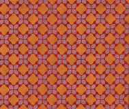 Tuch, orange Diamantkontrolleur Muster Stockfotos
