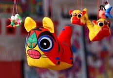Tuch-Tiger-Spielzeug Lizenzfreies Stockbild