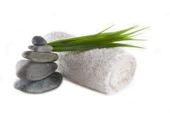 Tuch und Felsen Stockfoto