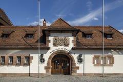Tucher-Braeu krog på operan i Nuremberg, Tyskland Royaltyfri Fotografi