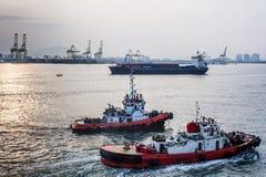 Tug boats at Penang Port Stock Photos