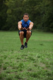 Tuck jump work out Royalty Free Stock Images