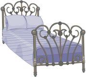 tucked кровать иллюстрация вектора