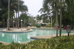 A tucked отсутствующий небольшой курорт в городе Teledo в провинции Cebu Филиппин стоковые изображения rf