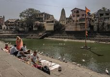 Banganga Tank is an ancient water reservoir that is part of the Valkeshwar temple complex at Malabar Hill in Mumbai in India