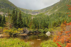 Tuckerman's Ravine From Hermit Lake. Royalty Free Stock Images