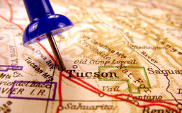 Tucson, Arizona. The way we looked at it in 1949 stock photography