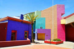 Tucson. ARIZONA APRIL 24: Colorful Adobe Home in Historic District of Downtown  Arizona USA on april 24 2014 royalty free stock images