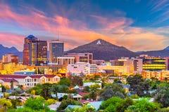 Tucson, Arizona, horizonte de los E.E.U.U. fotos de archivo libres de regalías