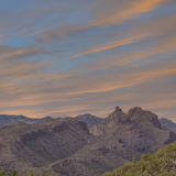 Tucson Arizona mountain sunset Royalty Free Stock Photography
