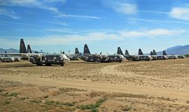 The Rock Planes in Pima Air and Space Museum Royalty Free Stock Photography