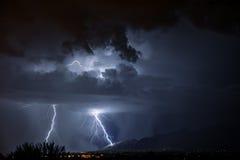 Tucson błyskawica fotografia stock