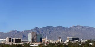 Tucson Downtown Panorama, AZ Royalty Free Stock Photography