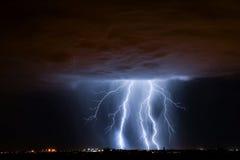 Tucson Lightning. Lightning storm over Tucson, AZ Stock Photo